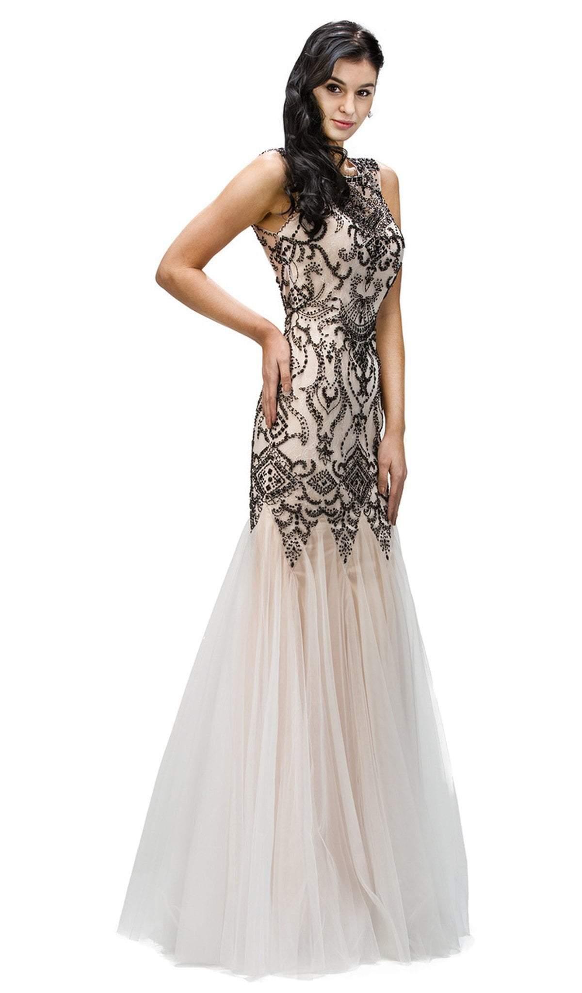 Dancing Queen - 9294 Beaded Godet Inset Mermaid Prom Dress