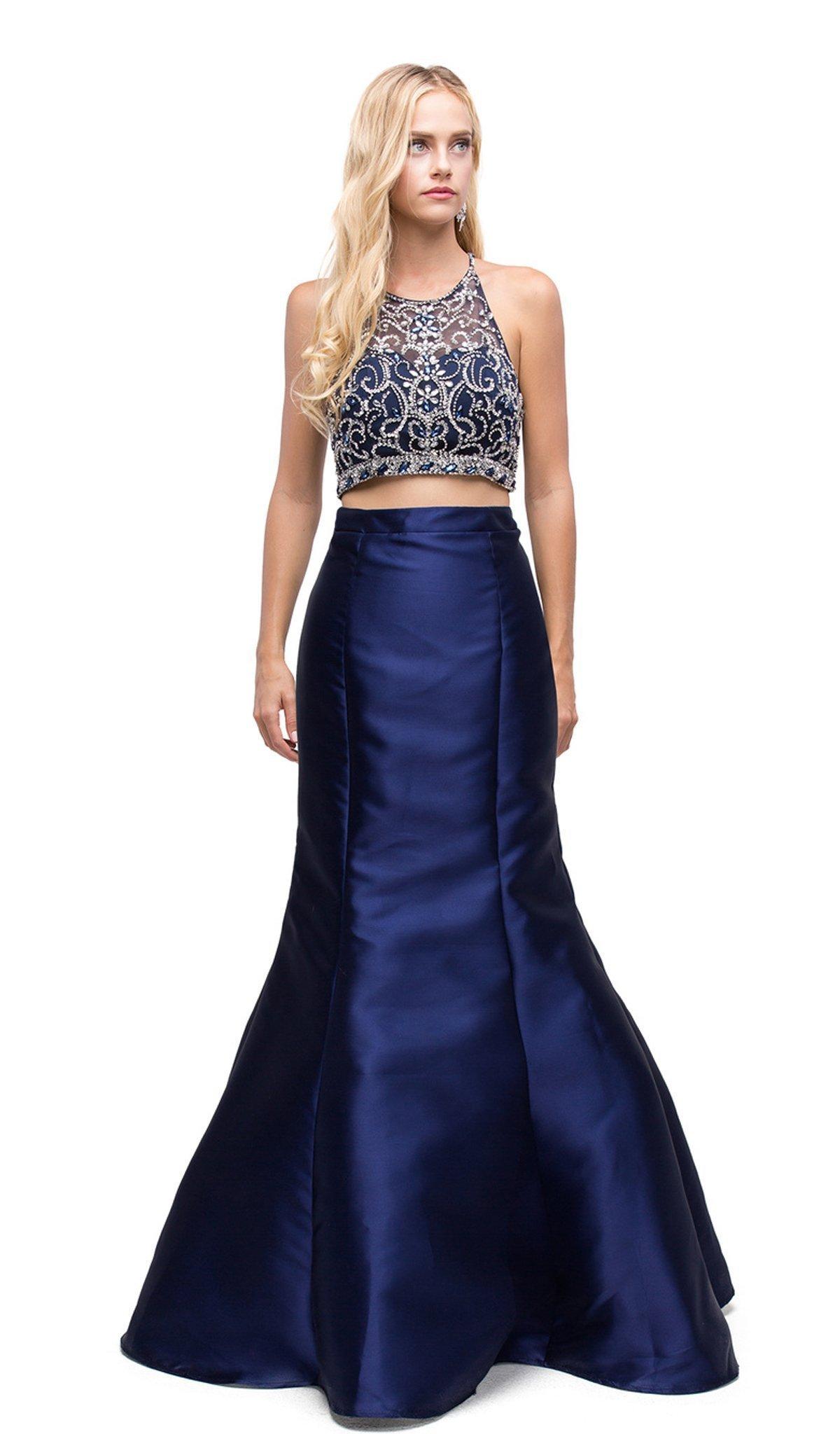Dancing Queen - 9831 Embellished Two Piece Mermaid Evening Dress