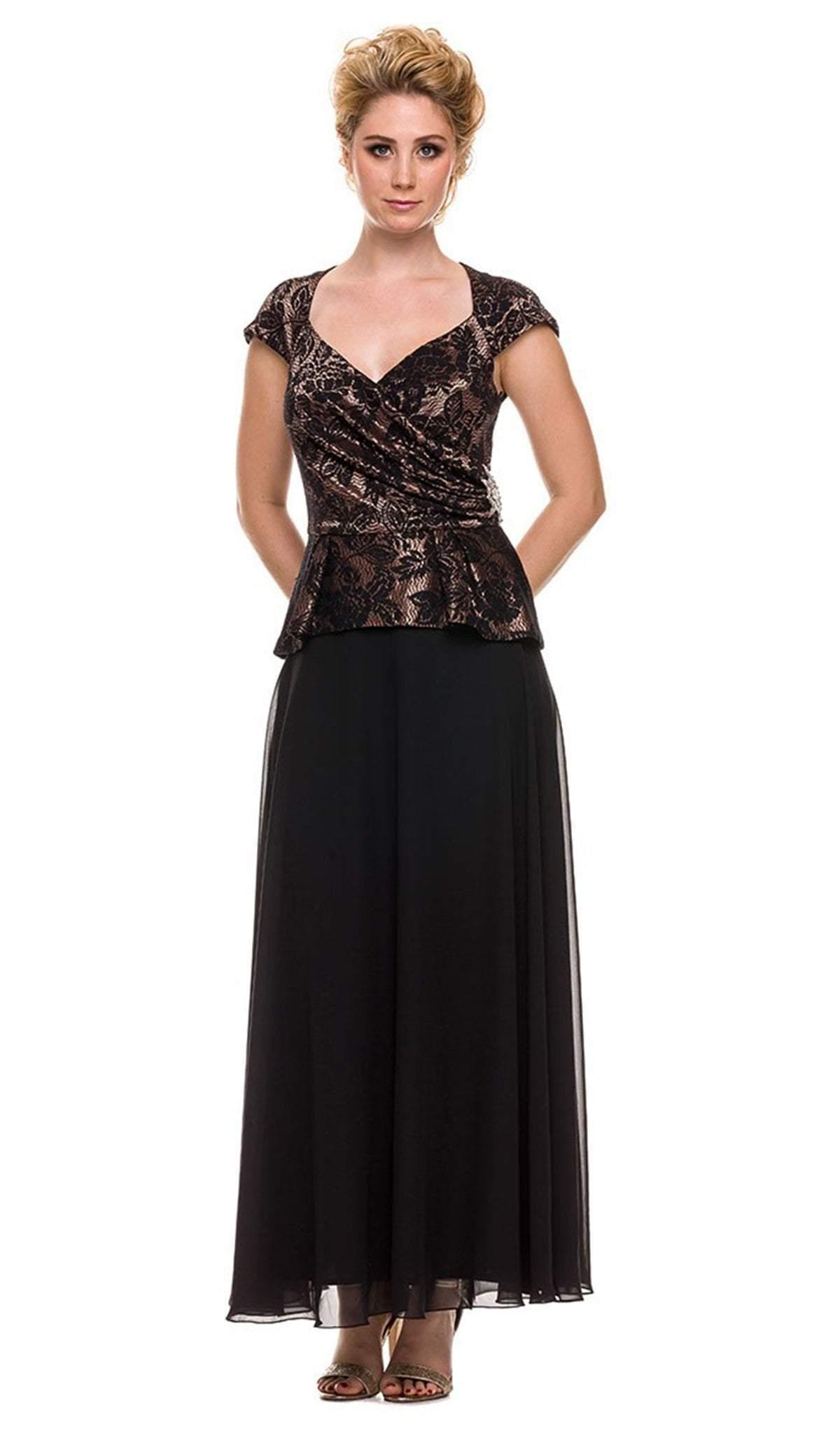 Nox Anabel - 5102 Lace Cap Sleeve Dress