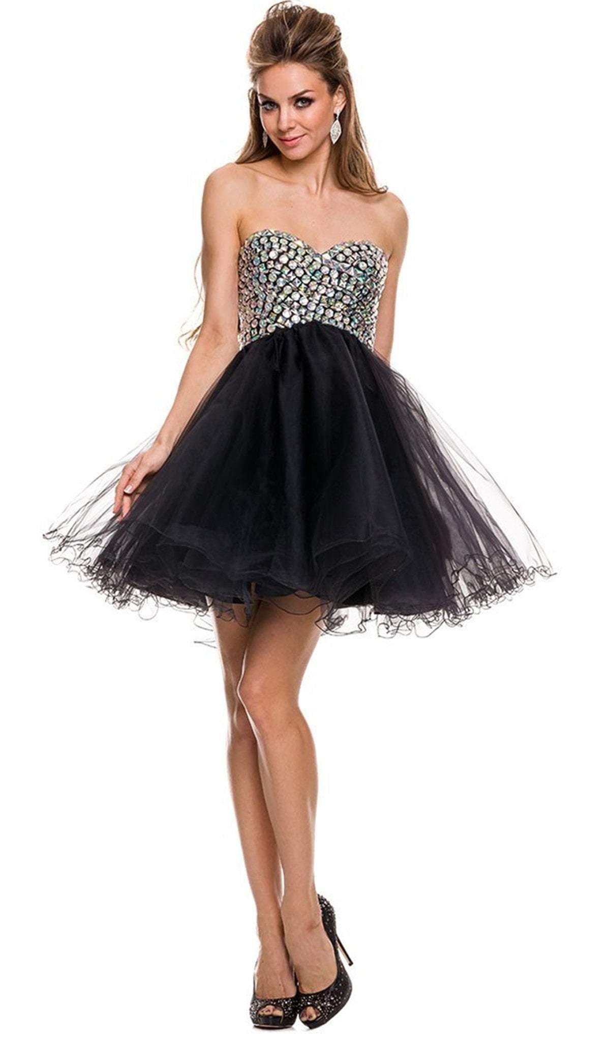 Nox Anabel - 6010 Beaded Sweetheart A-Line Dress