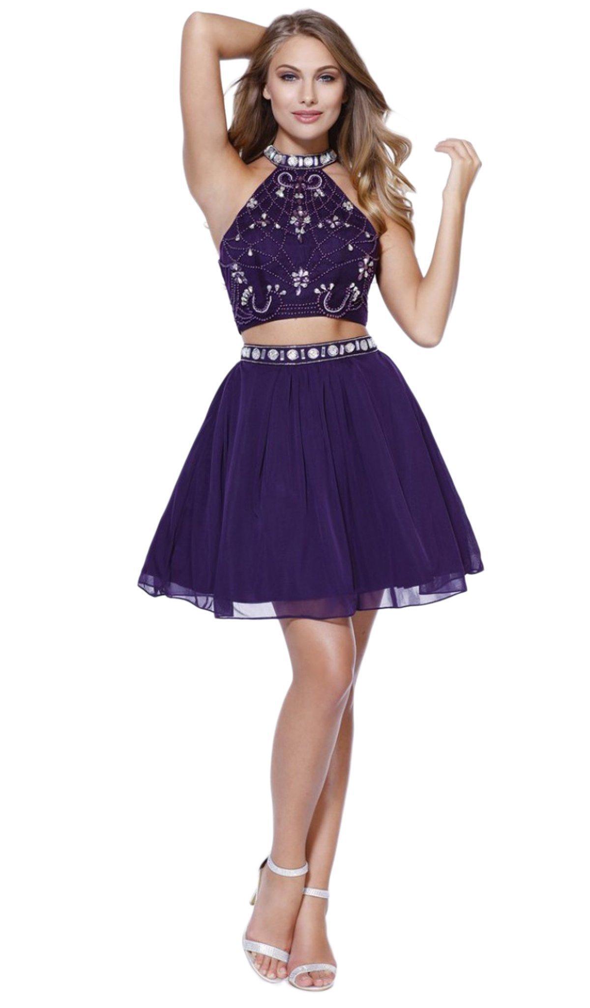 Nox Anabel - 6165 Two Piece Halter Dress