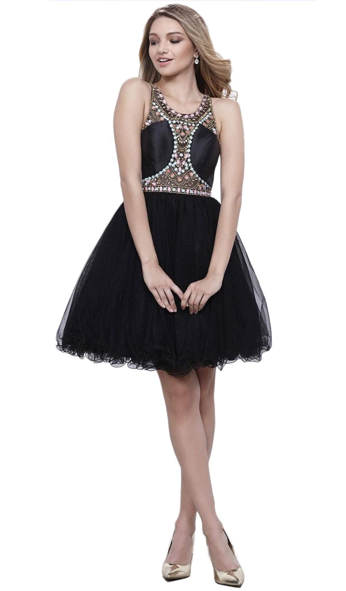 Nox Anabel - 6250 Beaded Sleeveless Cocktail Dress