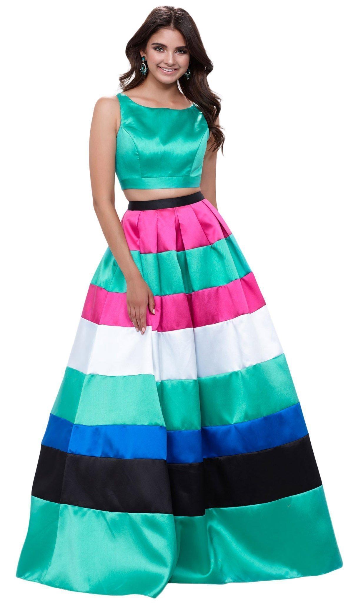 Nox Anabel - 8335 Two-Piece Bateau Mikado Evening Dress