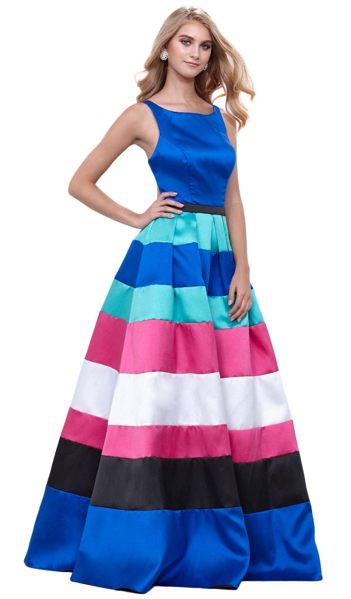 Nox Anabel - 8350 Long Sleeveless Mikado Evening Dress
