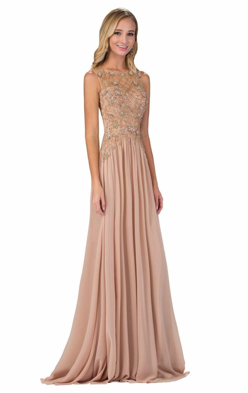 Elizabeth K - GL1304 Sleeveless Embellished Long Dress