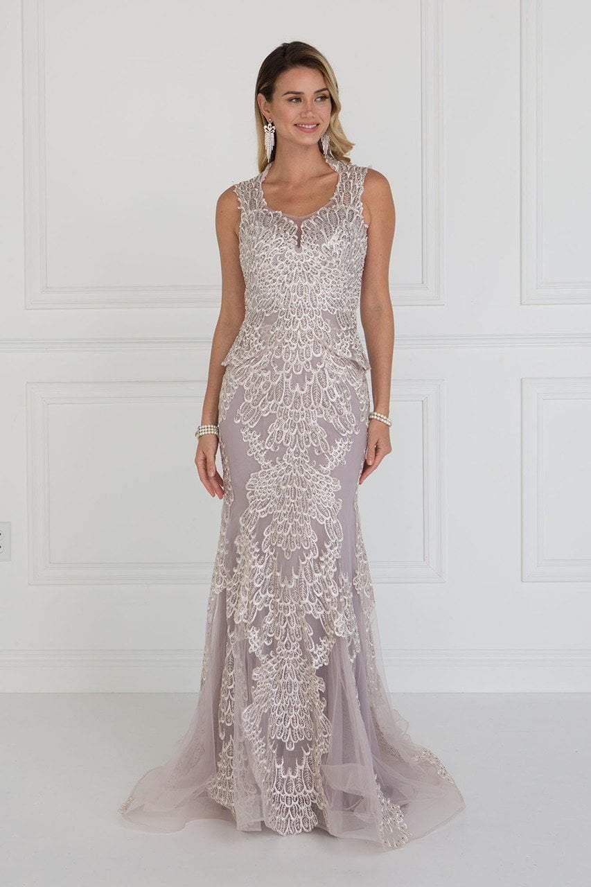 Elizabeth K - GL1530 Embroidered Scoop Sheath Dress
