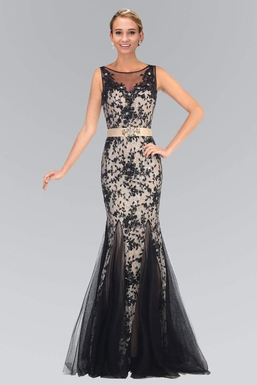 Elizabeth K - GL2009 Illusion Bateau Neckline Lace Mermaid Gown
