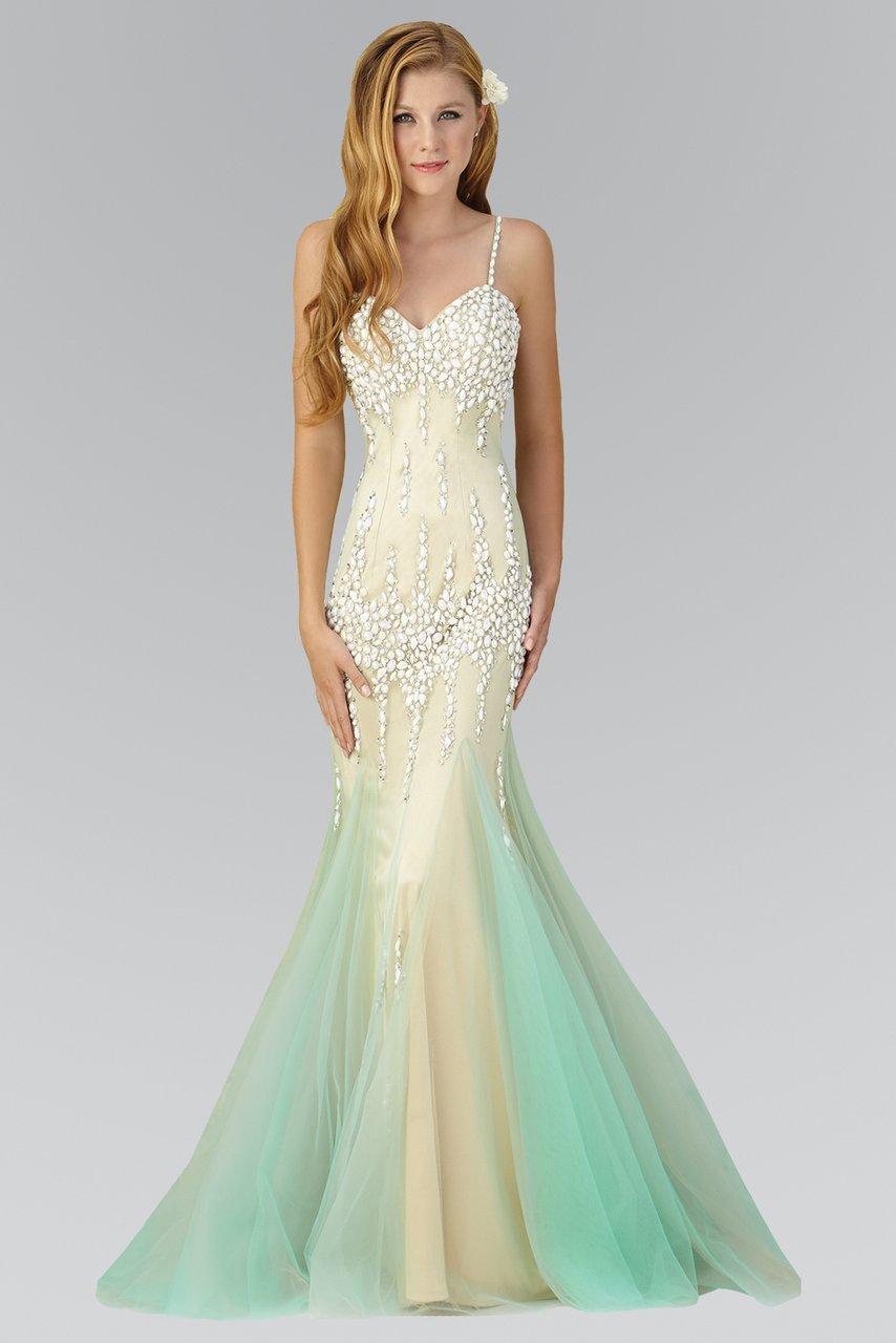 Elizabeth K - GL2081 Spaghetti Strap Sweetheart Neckline Gown