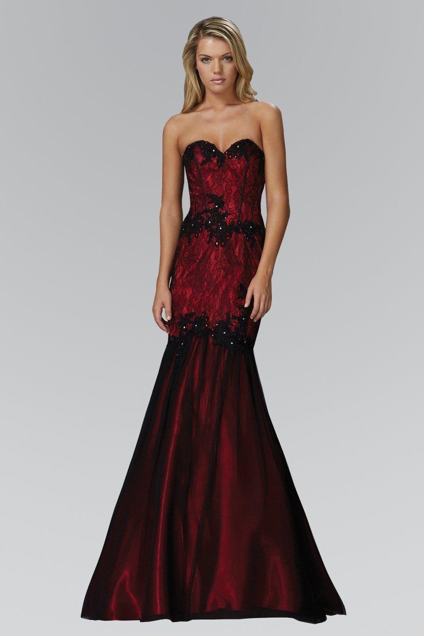Elizabeth K - GL2141 Strapless Sweetheart Lace Mermaid Gown