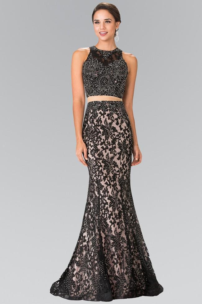 Elizabeth K - GL2271 Two-Piece Lace Long Dress