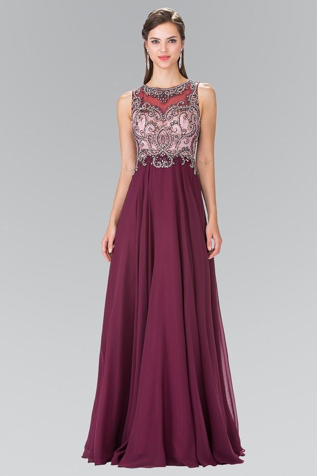 Elizabeth K - GL2273 Beaded Long Dress