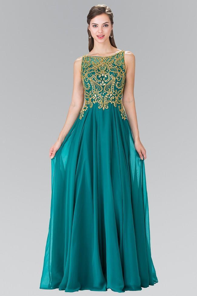 Elizabeth K - GL2274 Embellished Sleeveless Long Dress