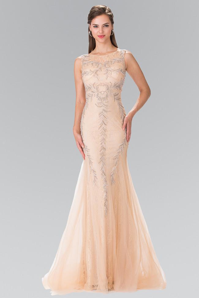 Elizabeth K - GL2289 Sequined Mermaid Gown