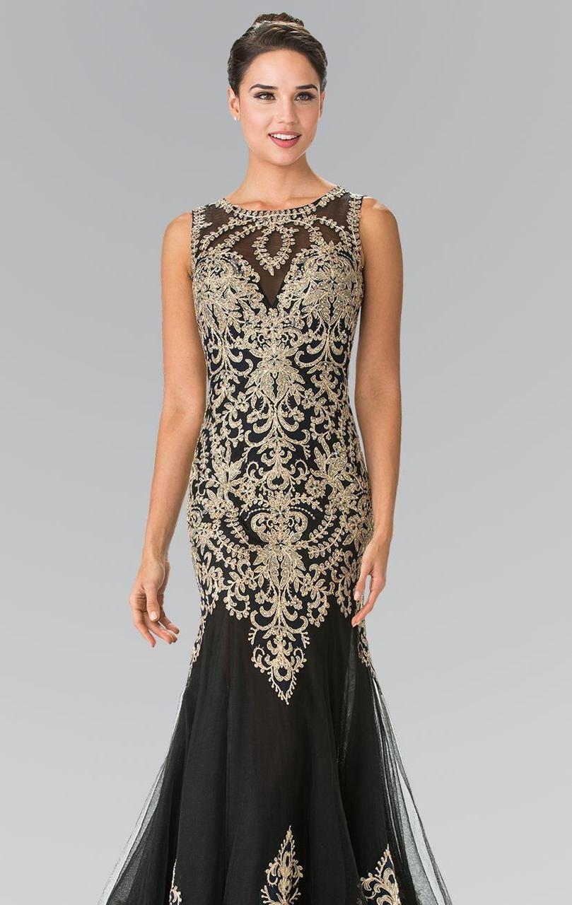 Elizabeth K - GL2307 Beaded Long Mermaid Gown