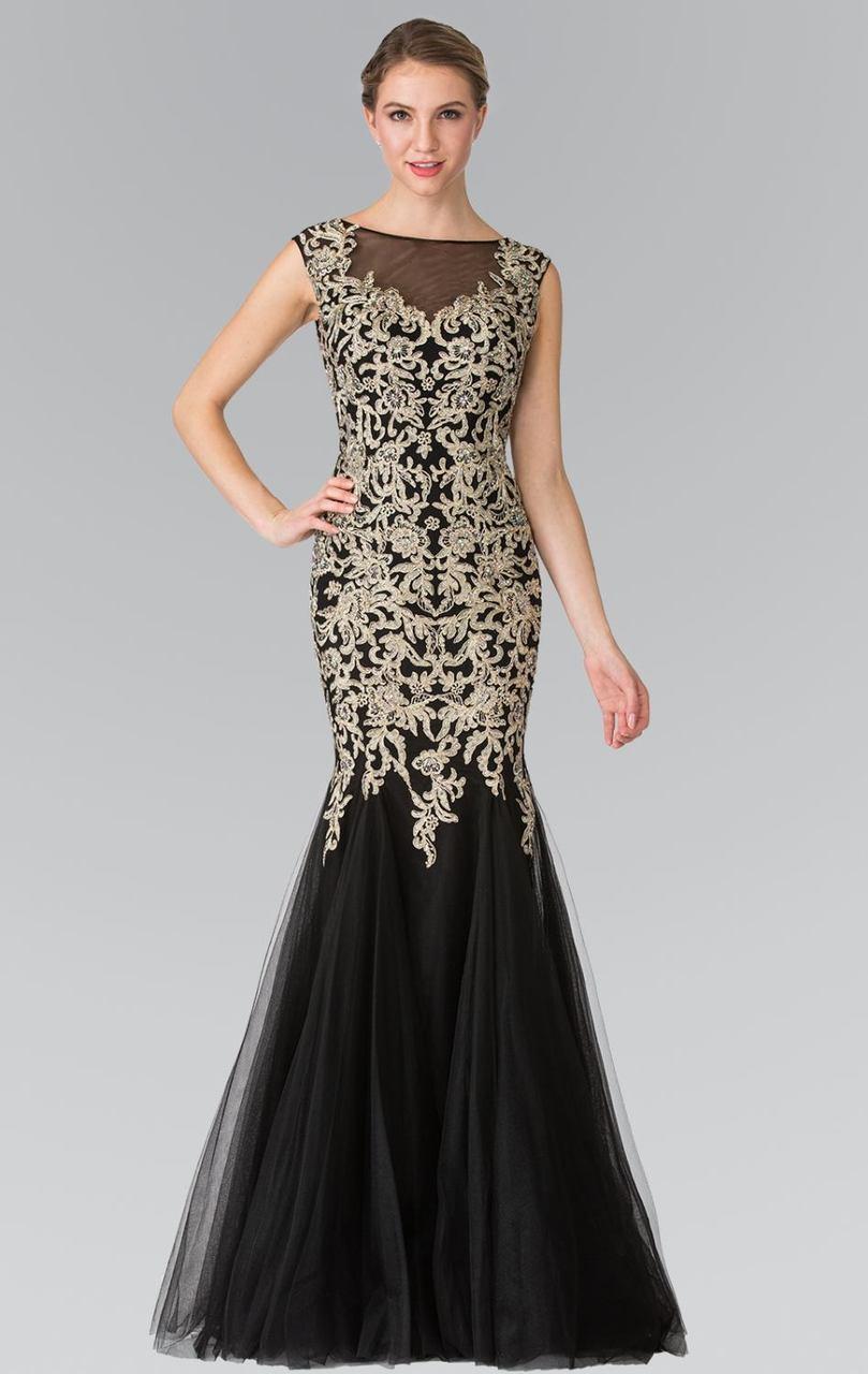 Elizabeth K - GL2319 Sleeveless Beaded Mermaid Gown