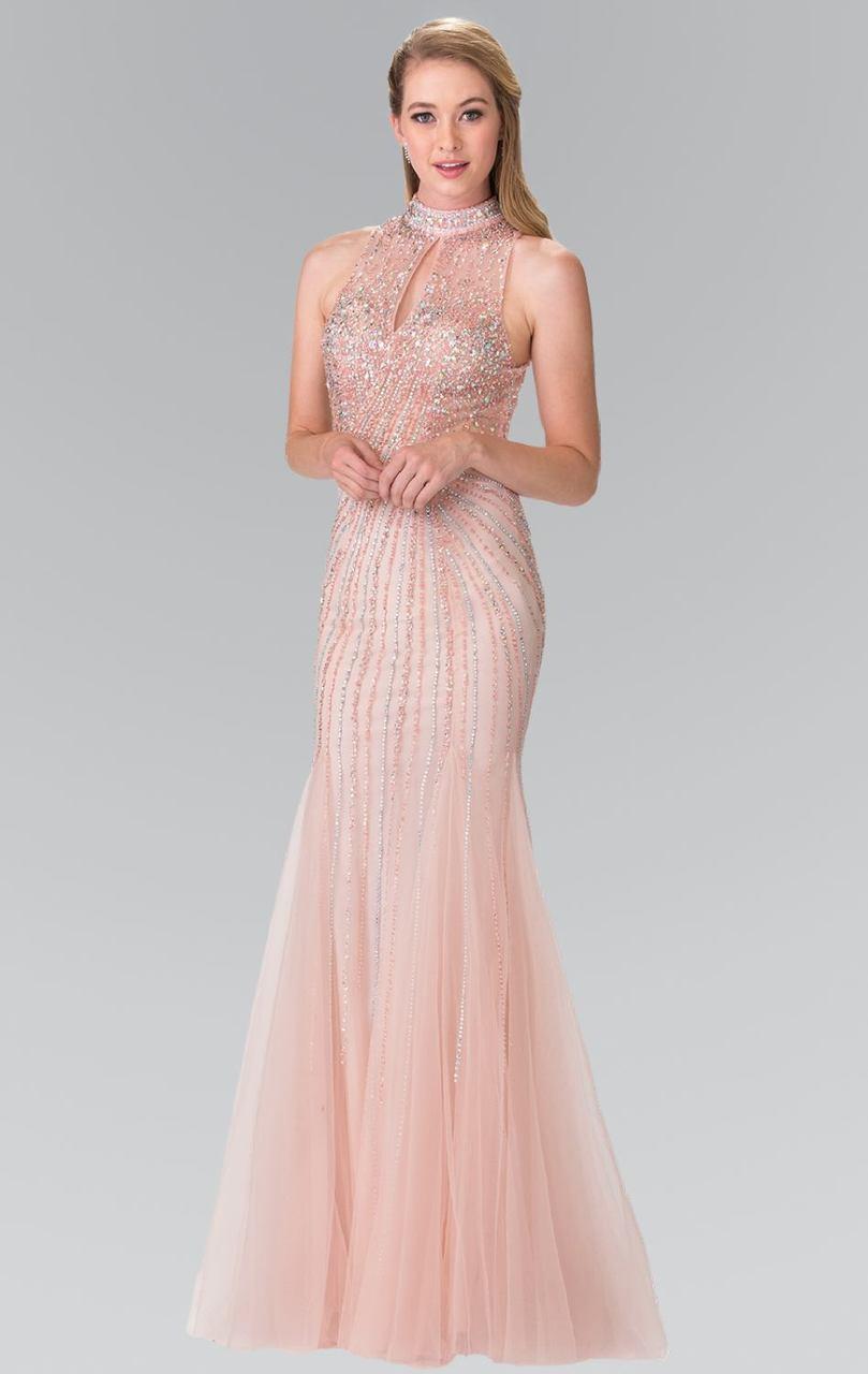 Elizabeth K - GL2330 Sequined Halter Trumpet Gown