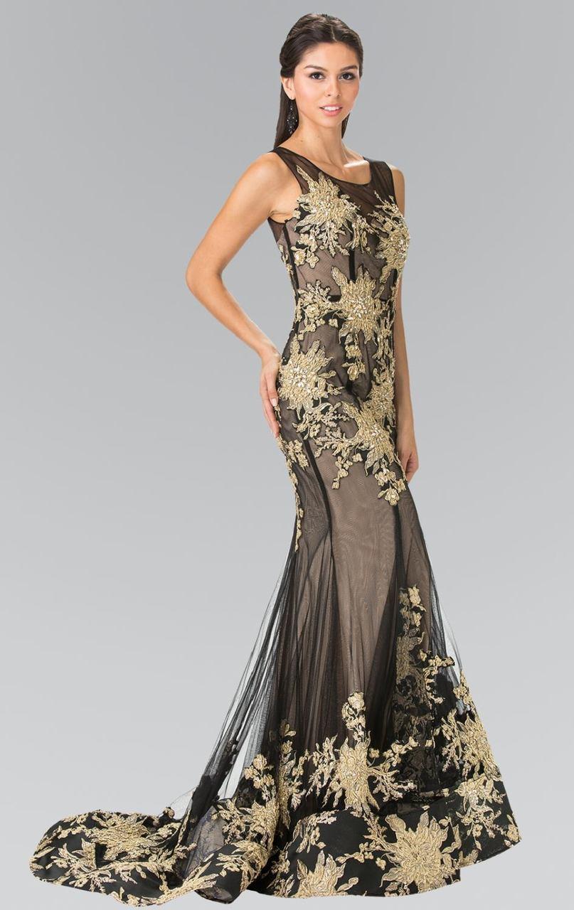 Elizabeth K - GL2335 Beaded Trumpet Gown