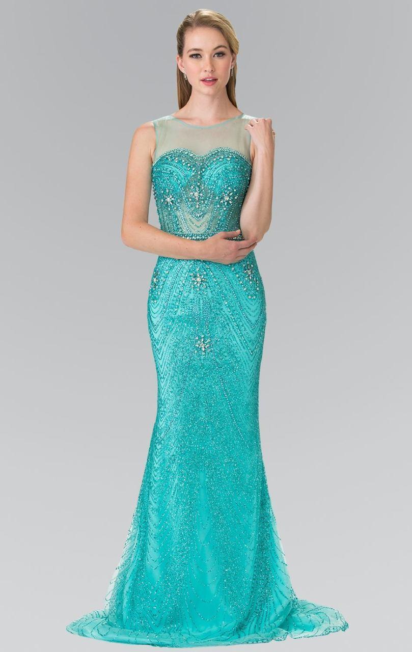 Elizabeth K - GL2337 Embellished Sleeveless Long Dress