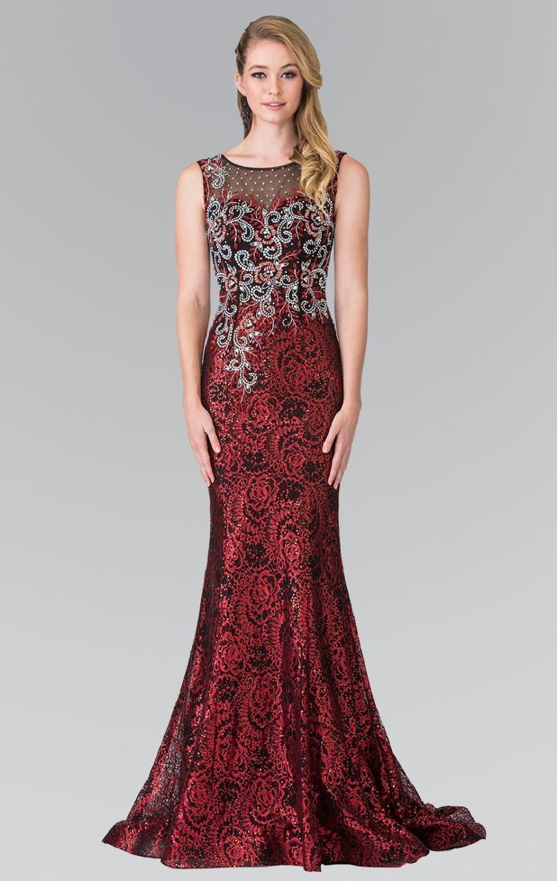 Elizabeth K - GL2341 Sleeveless Beaded Long Dress