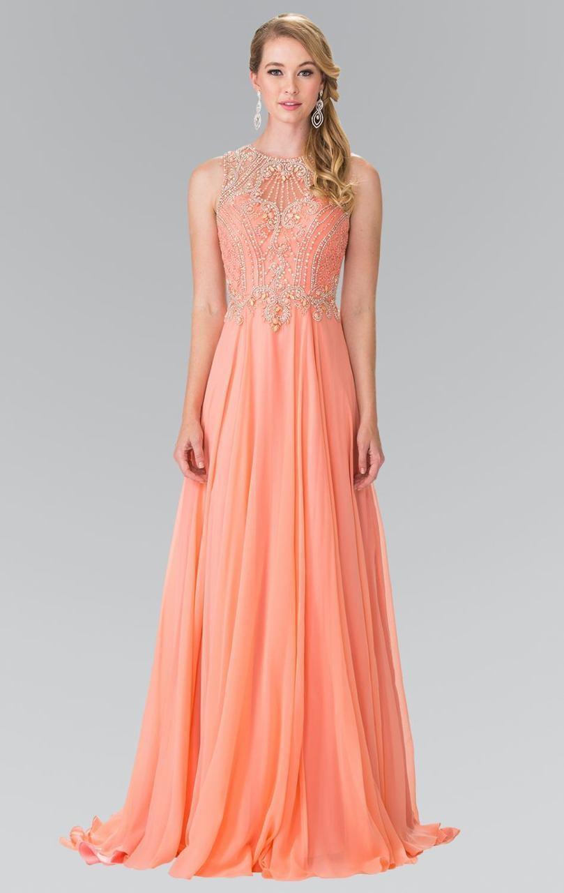 Elizabeth K - GL2343 Embellished Sleeveless Long Dress