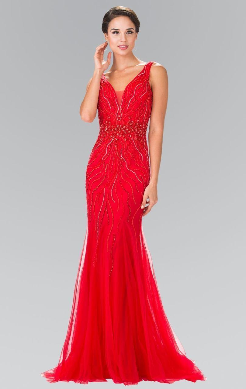 Elizabeth K - GL2344 V-Neck Mermaid Gown
