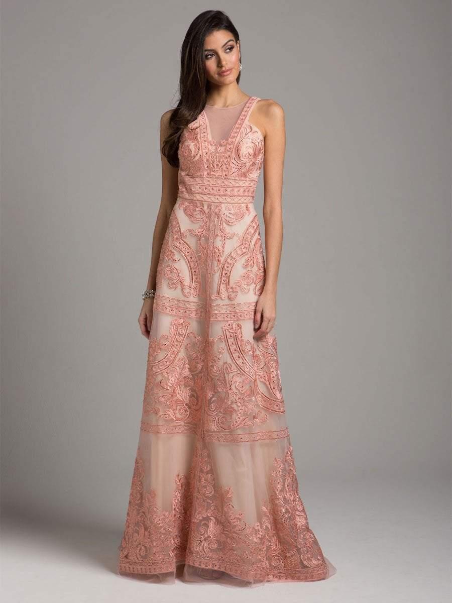 Lara Dresses - 29958 Bedazzled Halter Organza A-line Gown