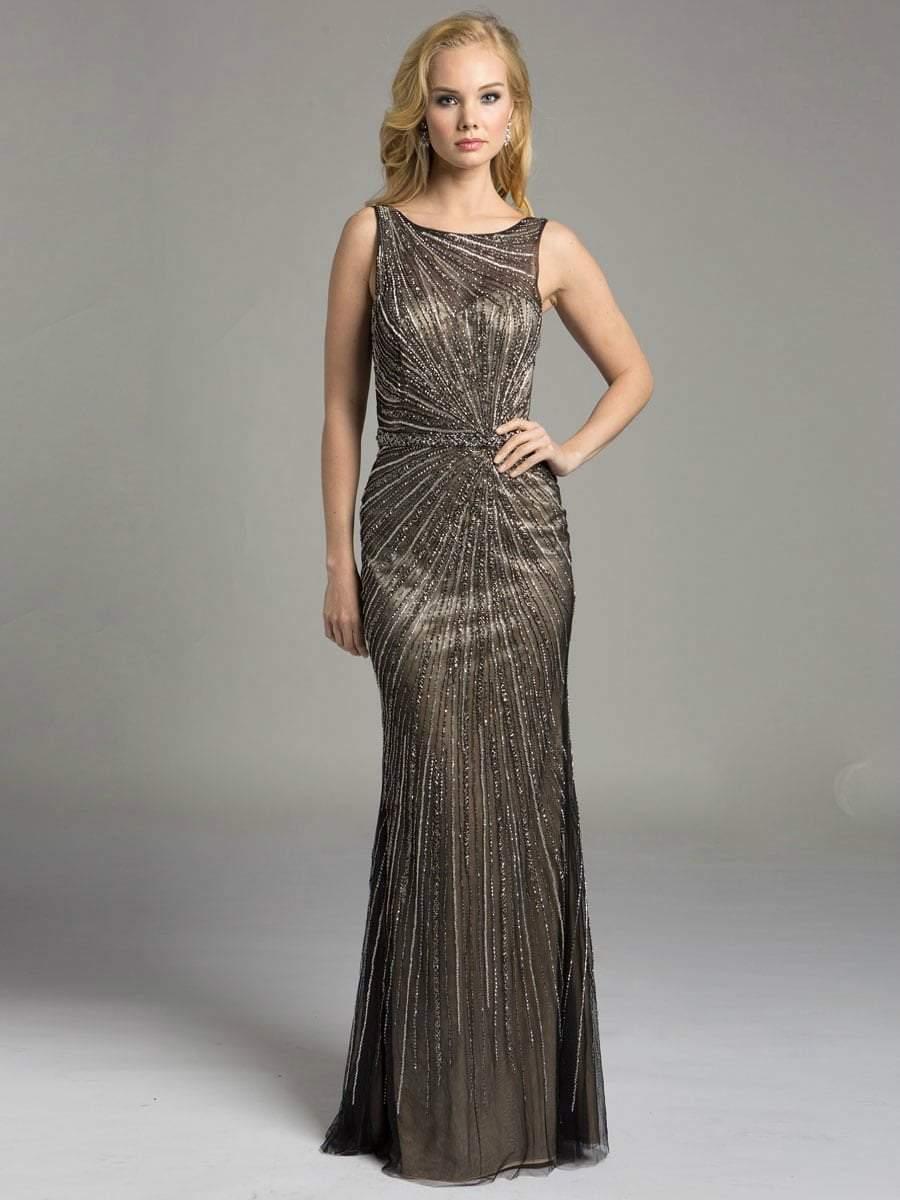 Lara Dresses - 32957 Sparkling Bateau Long Gown