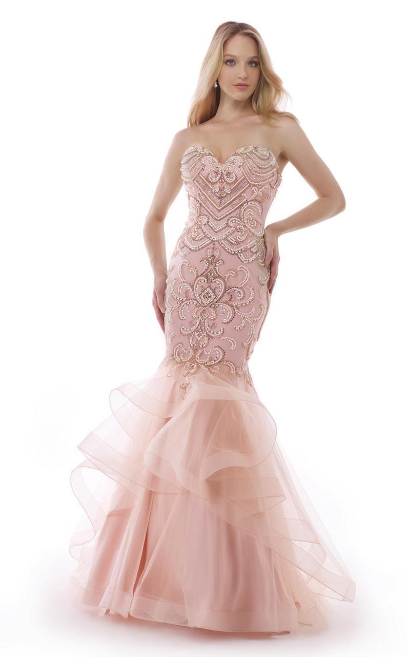 Morrell Maxie - 15456 Ornate Strapless Mermaid Gown