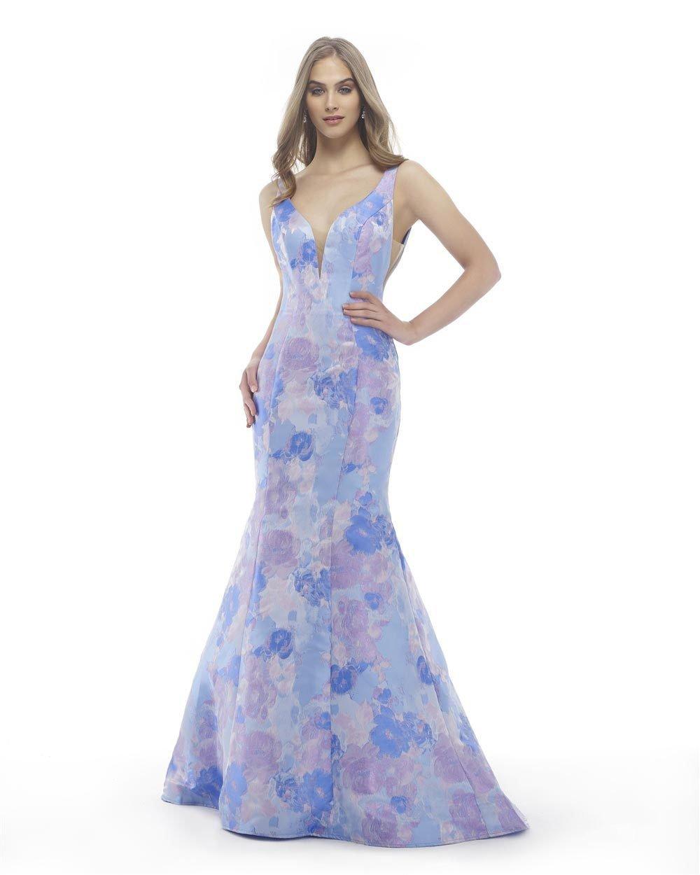 Morrell Maxie - 15811 Jacquard Print Mermaid Dress