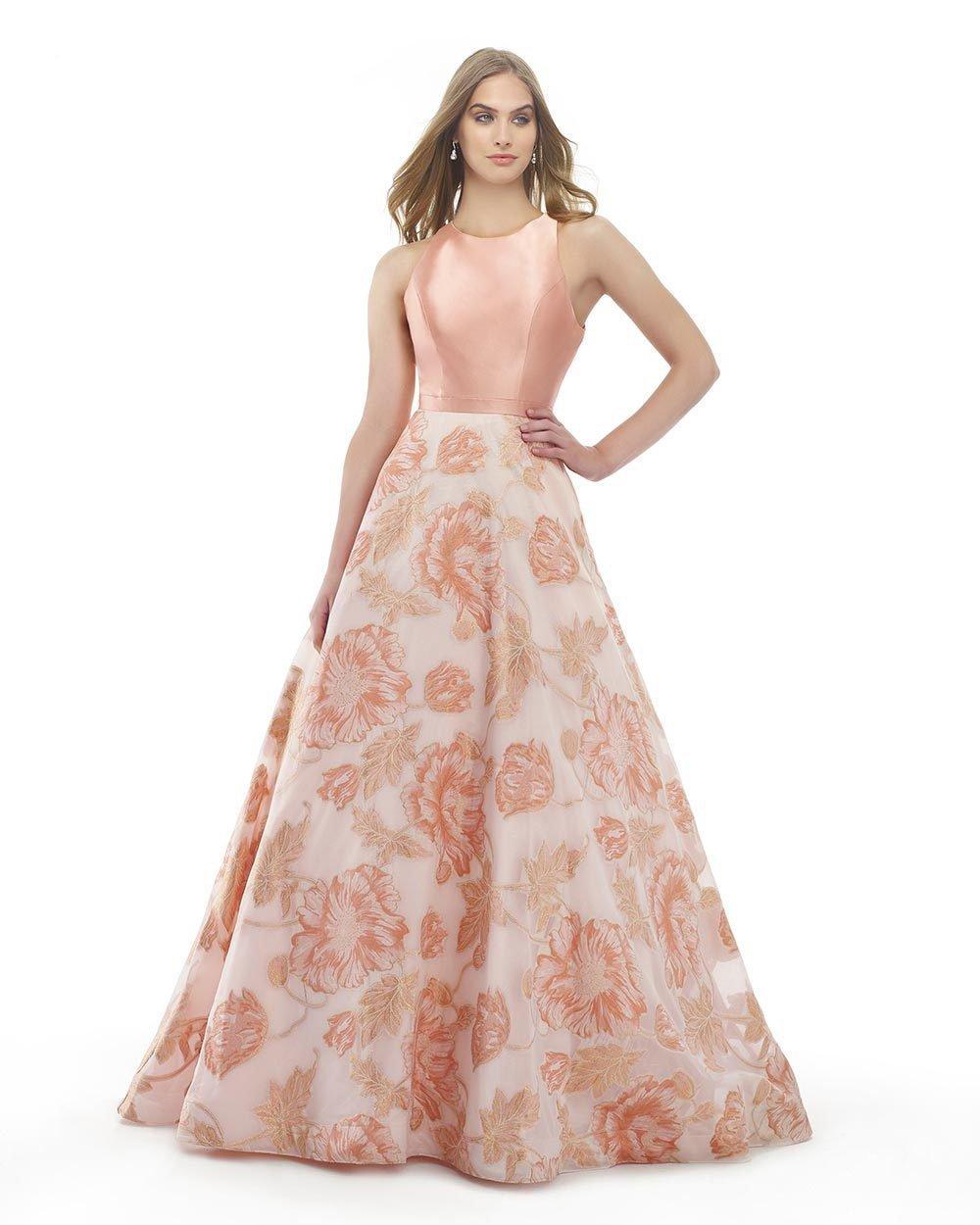Morrell Maxie - 15843 Sleeveless Mikado Floral Ballgown