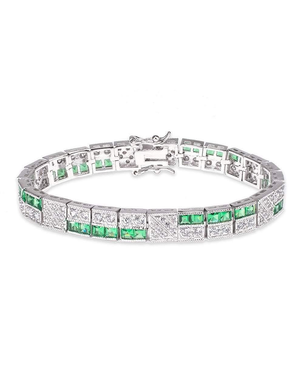 CZ by Kenneth Jay Lane - Emerald Deco Bracelet