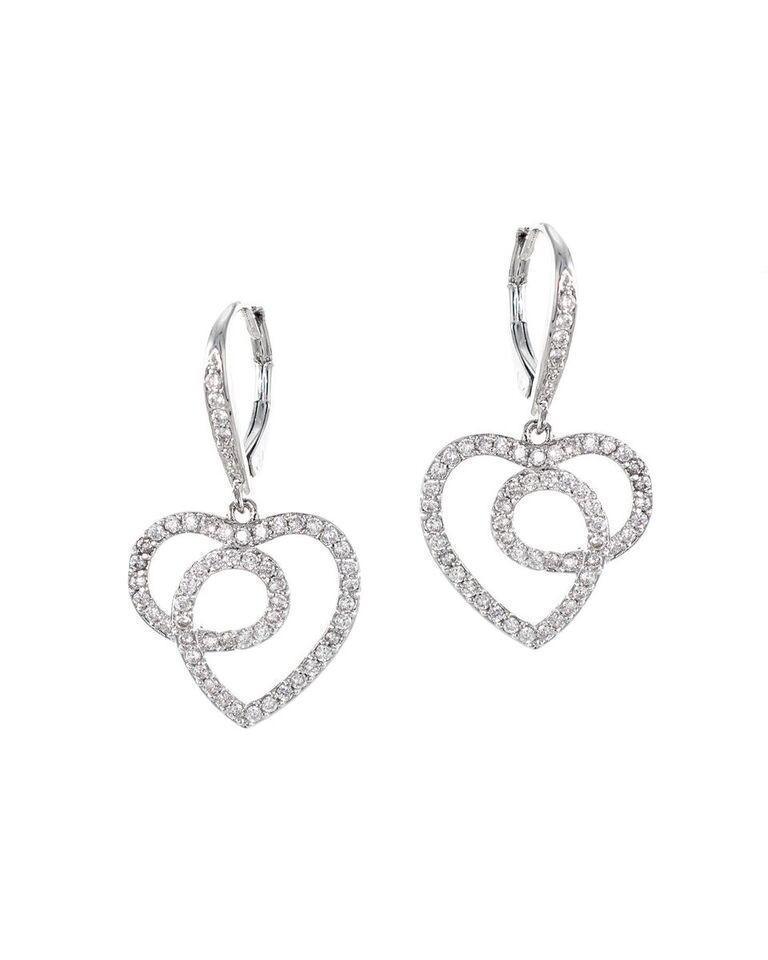 CZ by Kenneth Jay Lane - Open Heart Earrings