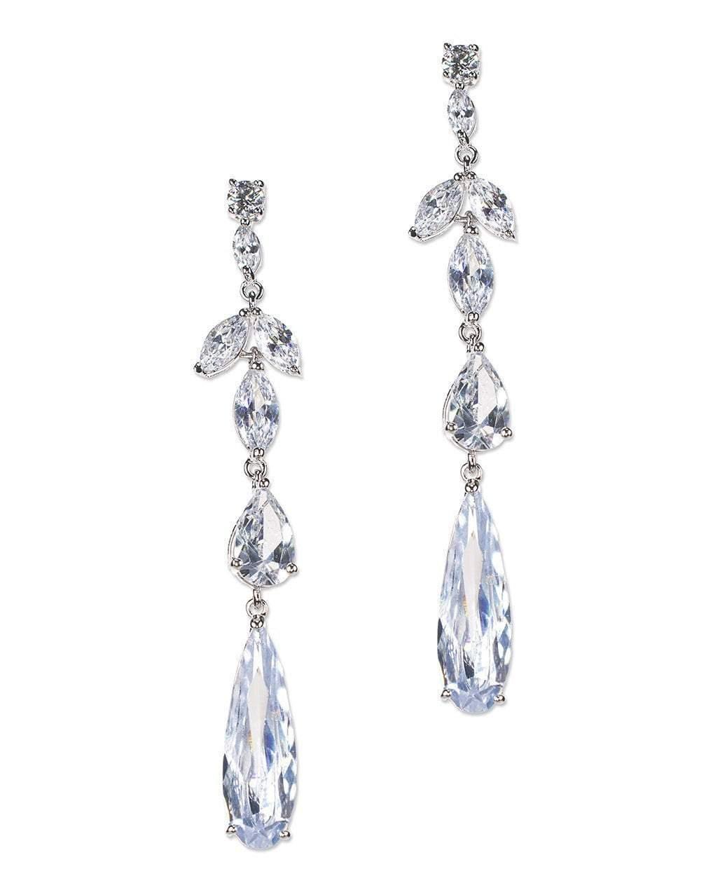 CZ by Kenneth Jay Lane - Vertical Multi Drop Pierced Earring