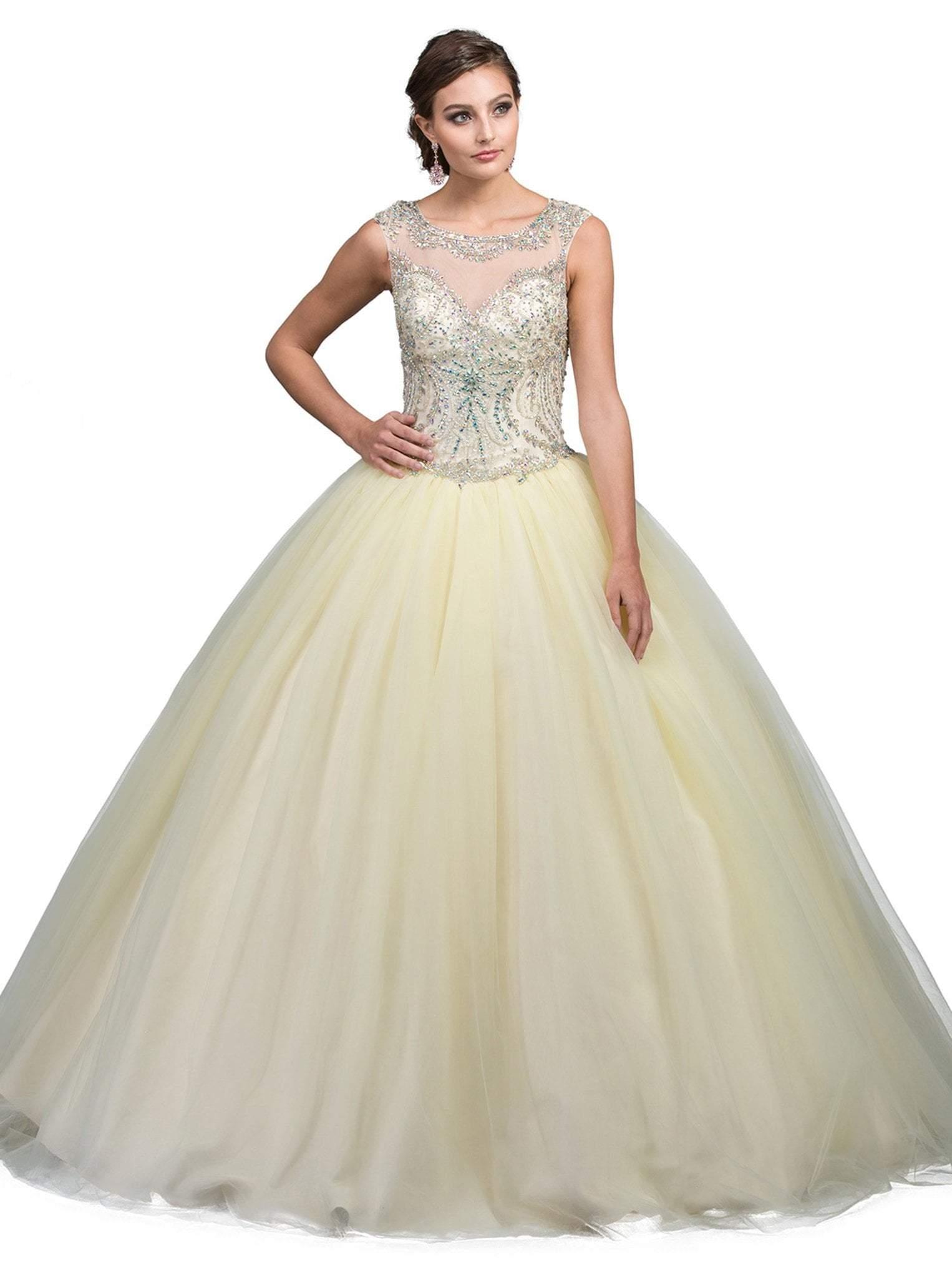 Dancing Queen - 1240 Sleeveless Crystal Beaded Quinceanera Ballgown
