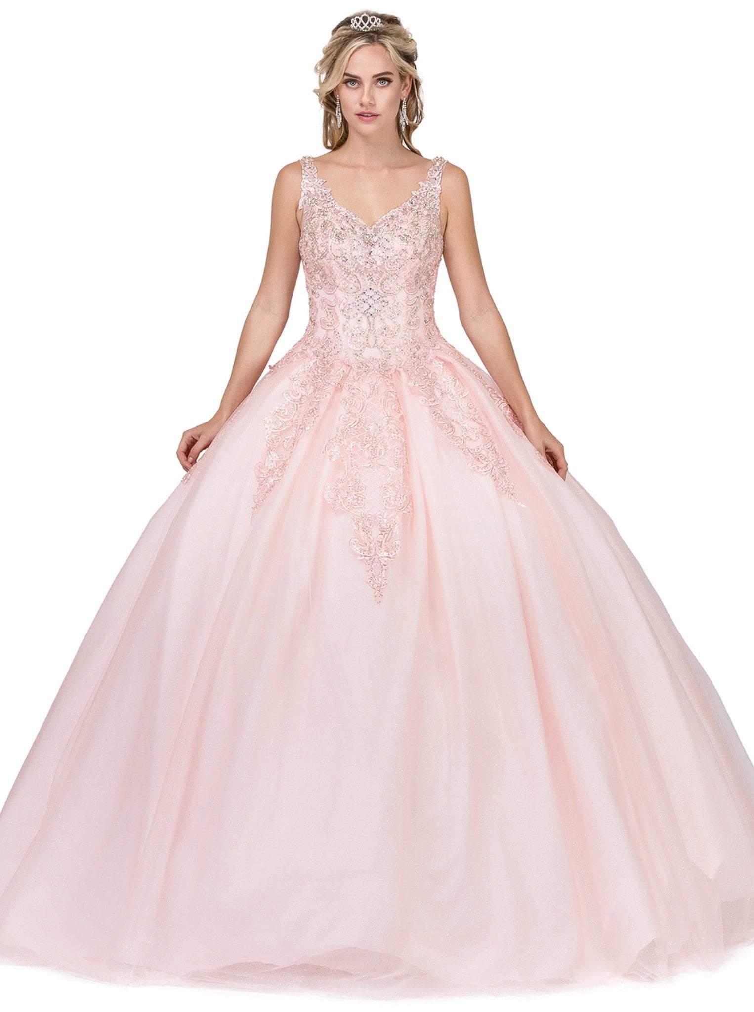 Dancing Queen - 1271 Beaded Off-Shoulder Quinceanera Gown