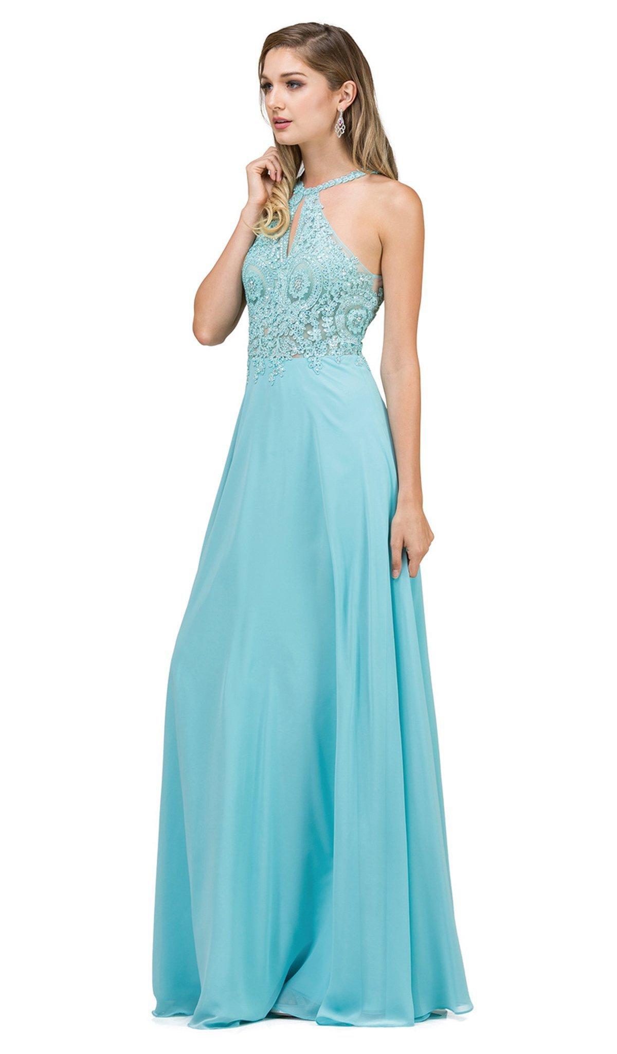 Dancing Queen - 9994 Bare Shoulder Regal Lace Applique A Line Gown