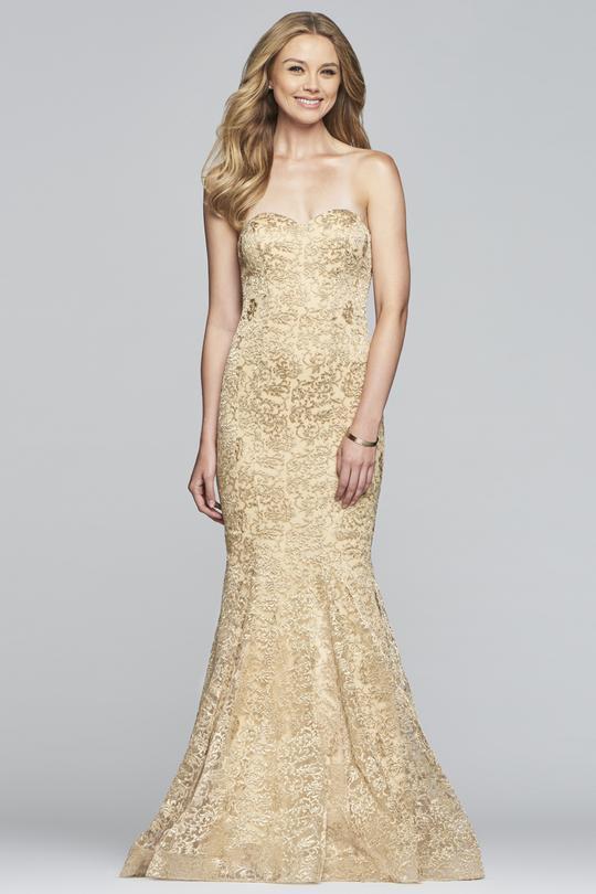 Faviana - S10305 Strapless Metallic Embroidered Mermaid Dress