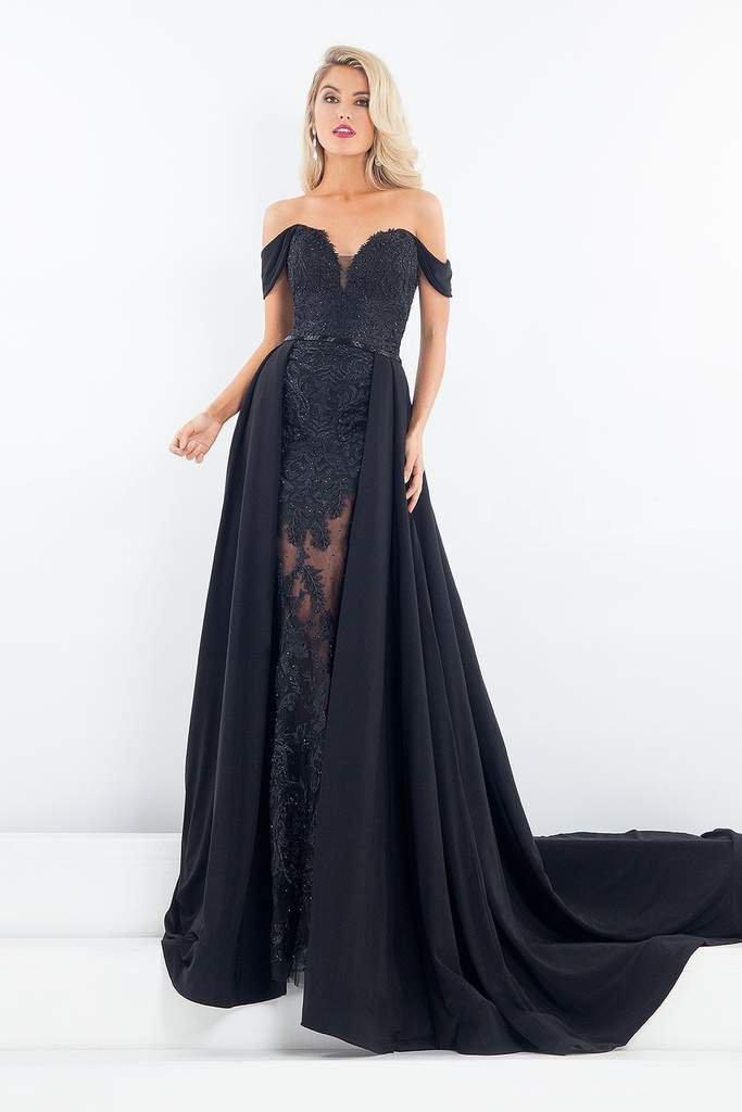 Rachel Allan Prima Donna - 5052 Long Mermaid Gown with Overskirt