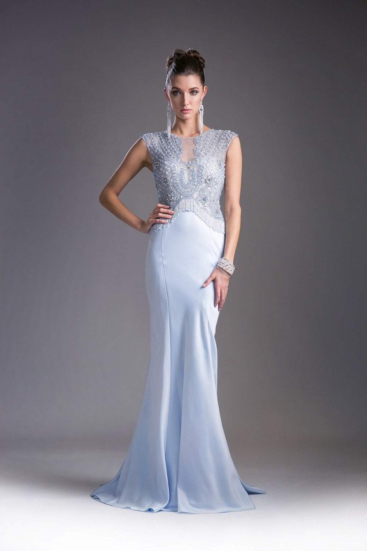 Cinderella Divine - 5297 Bead Embellished Bateau Mermaid Gown