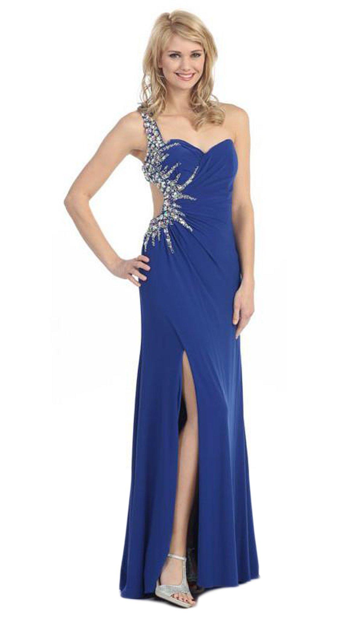 Eureka Fashion - 2501 Beaded Sweetheart Jersey Sheath Dress