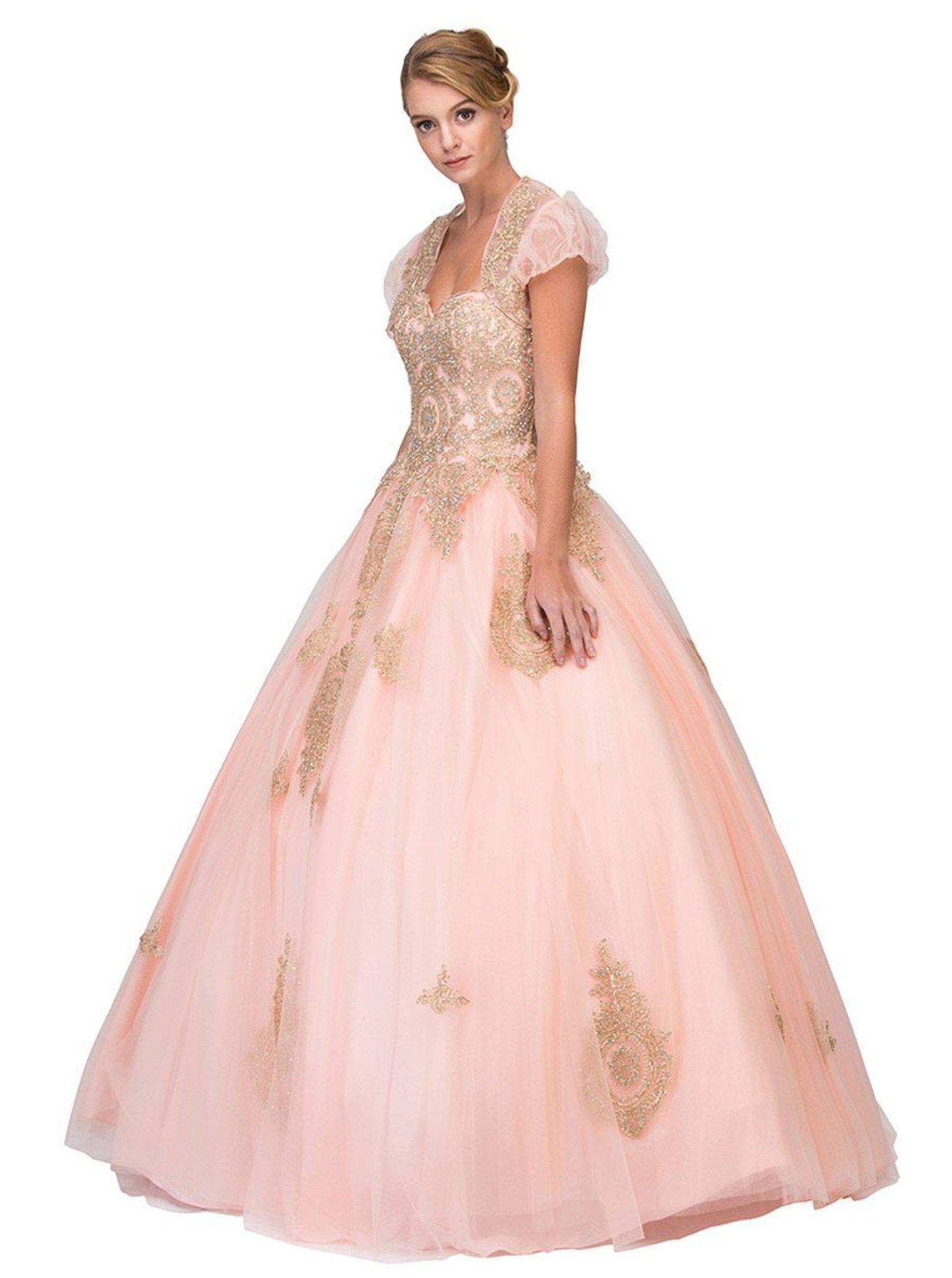 Eureka Fashion - 4088 Applique Sweetheart Ballgown With Bolero