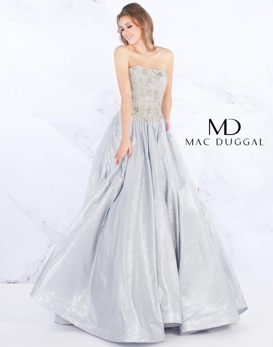 Mac Duggal Prom - 66700M Strapless Bead-Crusted Bodice Ballgown
