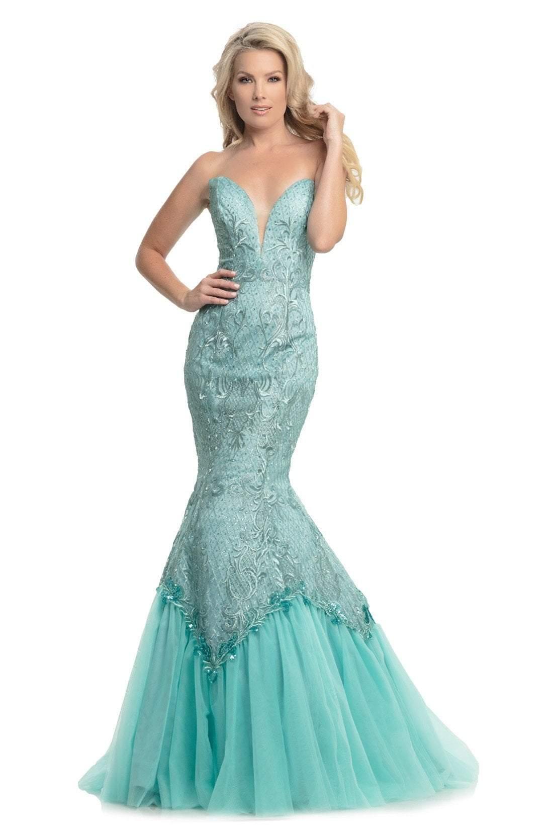 Johnathan Kayne - 9001 Dramatically Embellished Strapless Mermaid Gown