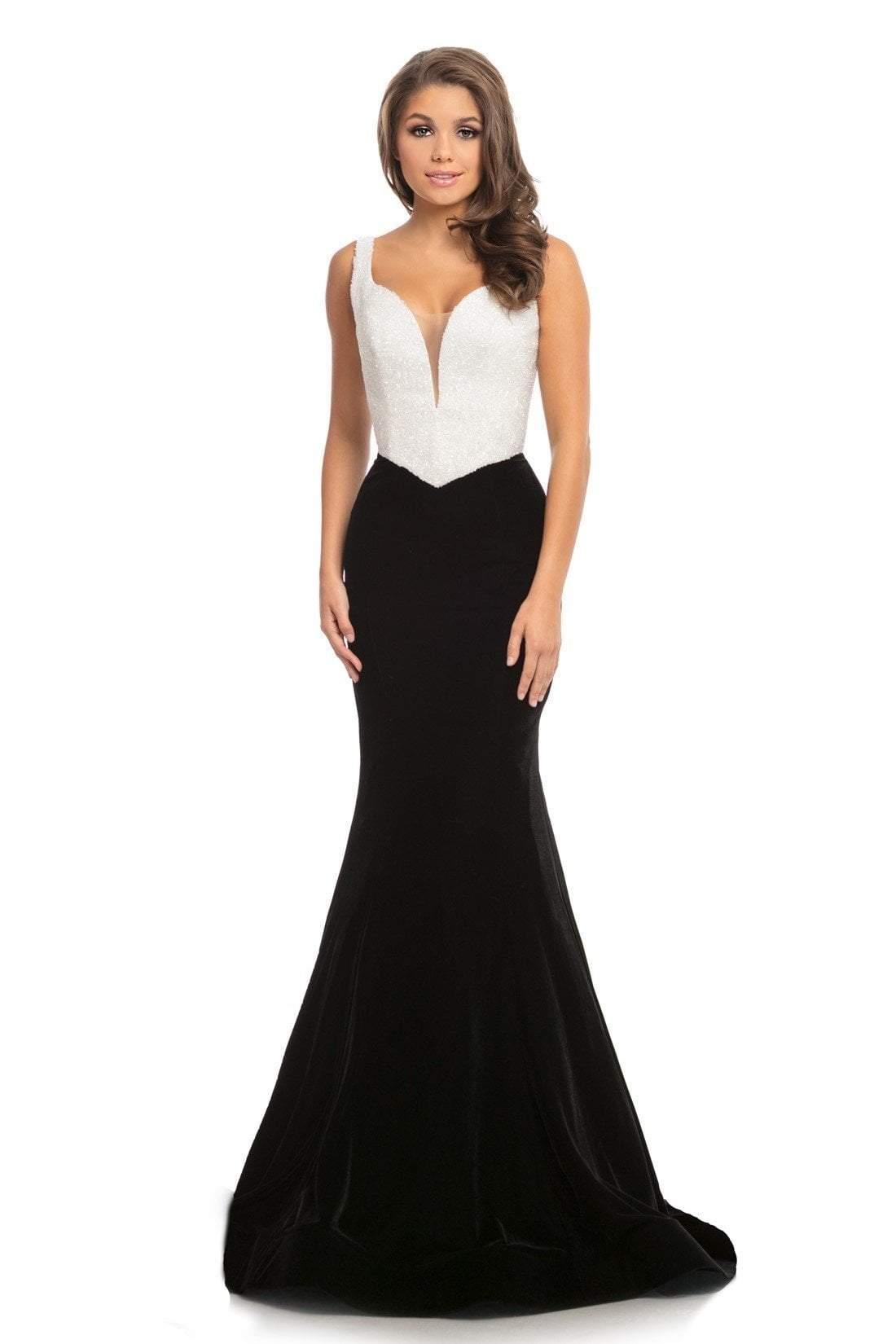 Johnathan Kayne - 9019 Fully Studded Bodice Velvet Mermaid Gown