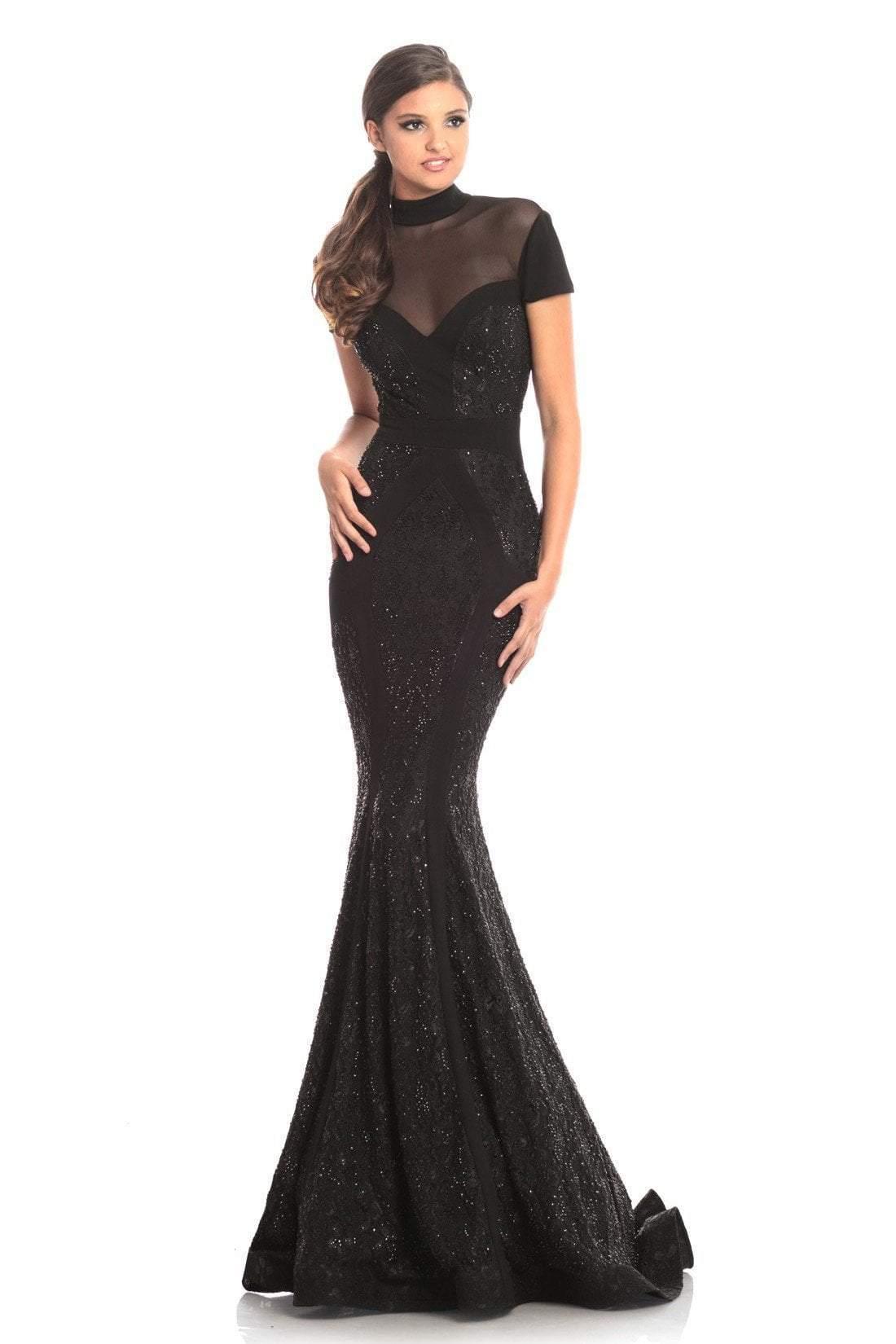 Johnathan Kayne - 9045 Embellished Lace High Neck Mermaid Dress
