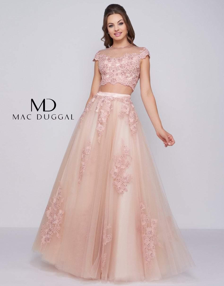 Mac Duggal Ballgowns - 50524H Two Piece Embellished Ballgown