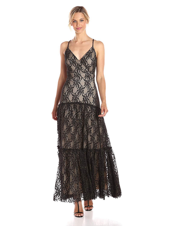Taylor - 9003M Embroidered Halter Strap A-Line Evening Dress