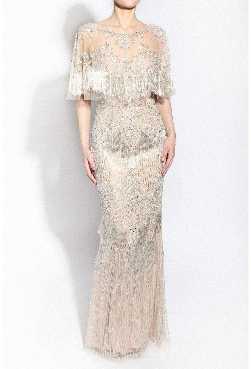 Terani Couture - 1912GL9565 Embellished Bateau Sheath Dress