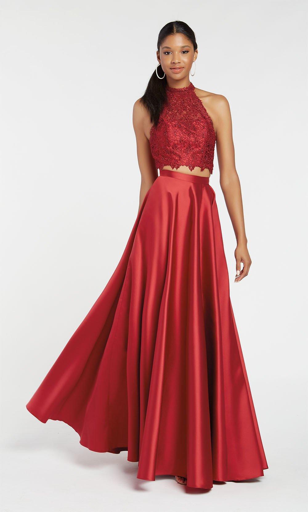 Alyce Paris - 60329 Flowy Two Piece Mikado Lace Prom Gown