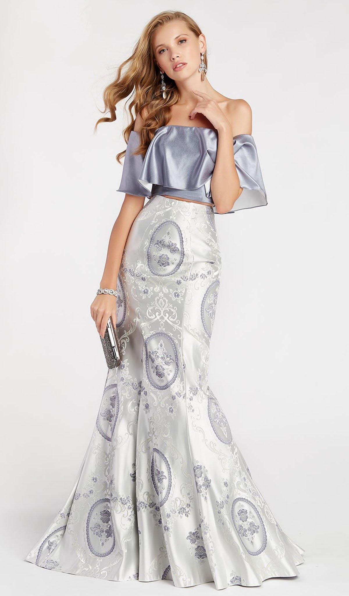 Alyce Paris - 60336 Two Piece Fluttering Off Shoulder Trumpet Gown